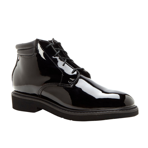 Rocky 500-8 High Gloss Dress Leather Chukka Shoes BLACK