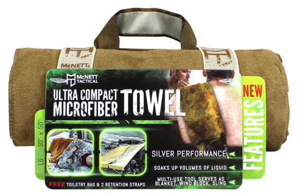 McNett Ultra Compact Microfiber Towels LARGE - Coyote