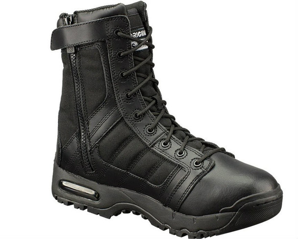 "Original SWAT 123201 Metro Air 9"" Side-Zip Men's Black Boots"