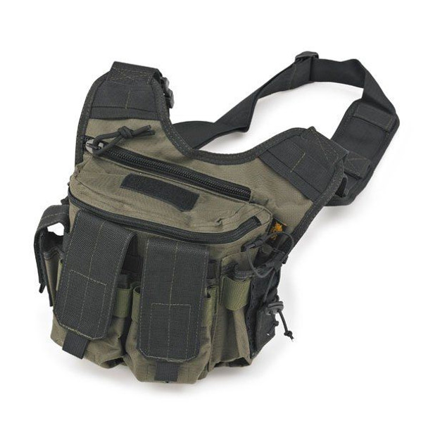 "US PeaceKeeper 12"" x 10"" x 3"" Rapid Deployment Pack - Black/Green"