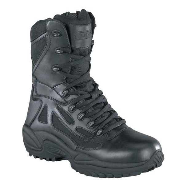 "Reebok RB8875 Men's 8"" Rapid Response RB Soft Toe Combat Boot, Black"