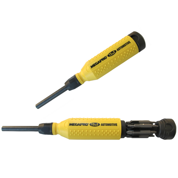 MegaPro 15 in 1 Automotive Screwdriver YELLOW/BLACK