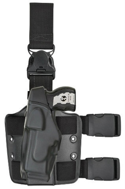 Safariland 6375 ALS EDW Holster w/6005 Leg Shroud for Taser X26 - Right Hand - Black - STX Tac