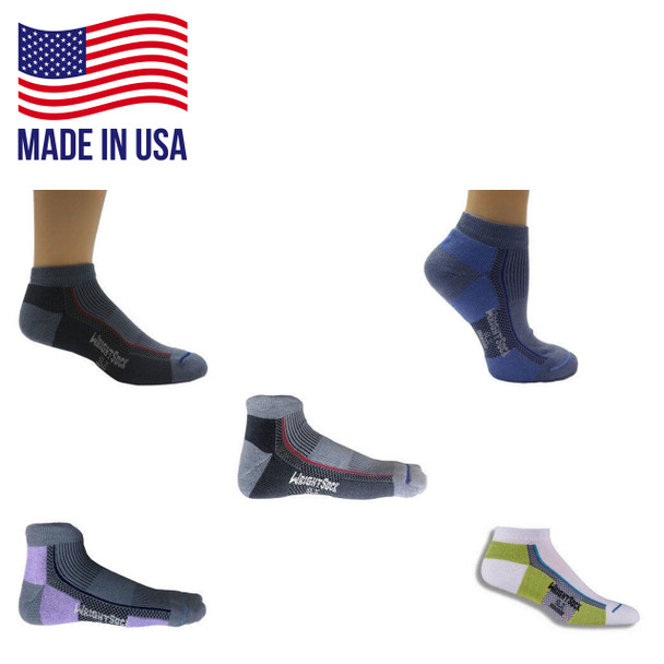 Wrightsock 153 Single Layer SLX Low Quarter Socks - 6/Pack Made in the USA