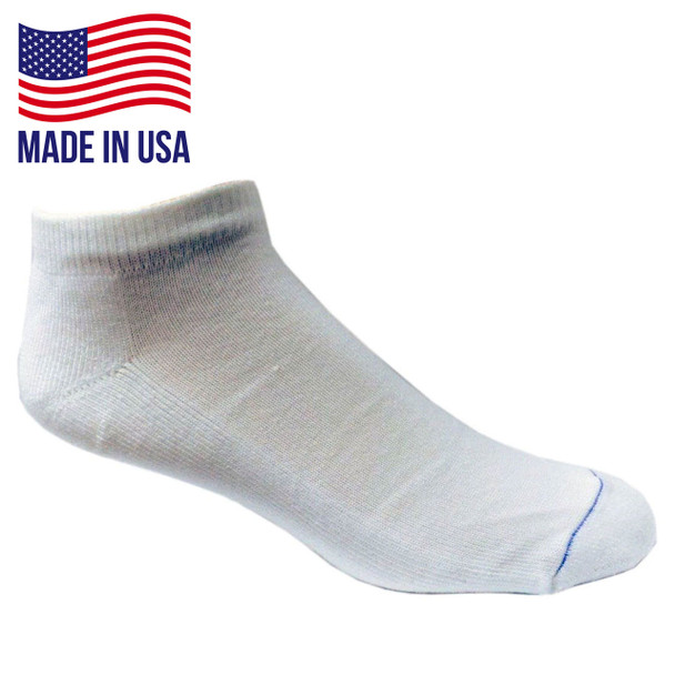 Wrightsock 963 Single Layer Ultra Thin Low Quarter Socks - White 6/Pack Made in the USA