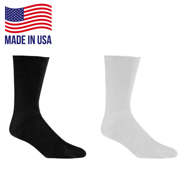 Wrightsock 966 Single Layer Racer Crew Socks - 6/Pack Made in the USA