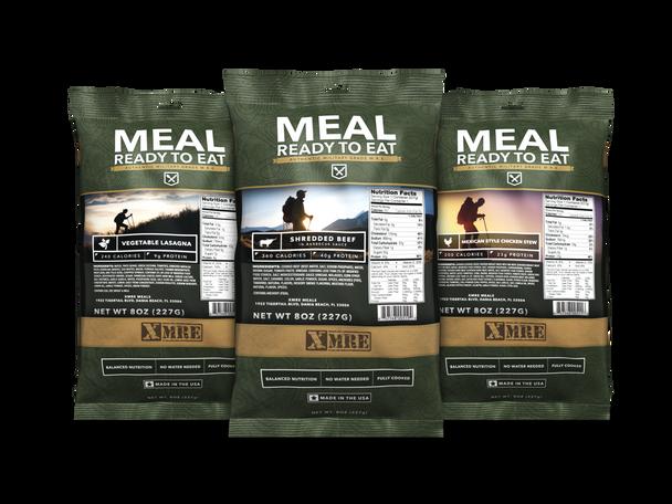 XMRE 1300XT Military Grade Extended Shelf-Life MRE's Single GI Entrees 24/Pack