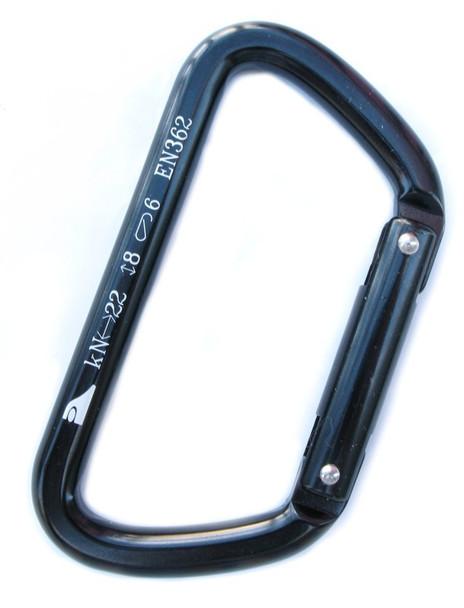 AMP Tazo Straight-Gate Aluminum Carabiner 22kN