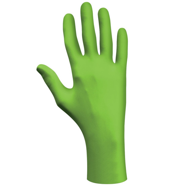 Showa Best Glove N-Dex Powder Free Nitrile Long Cuff Gloves Green 50/Pack