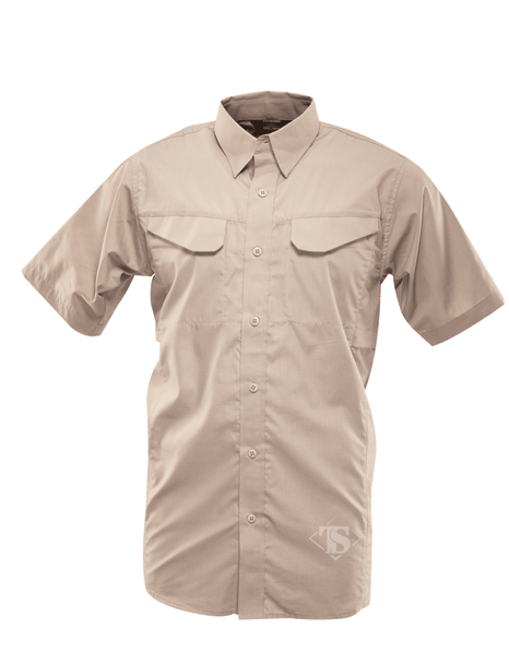 Tru-Spec 1092 24-7 Series Men's Ultralight Short Sleeve Field Shirt, Khaki