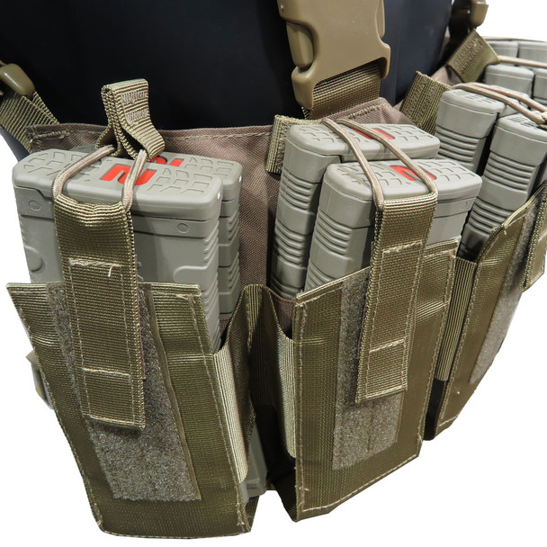 Battle Steel 12 30rd M4/AR Magazine Chest Rig - Coyote Brown