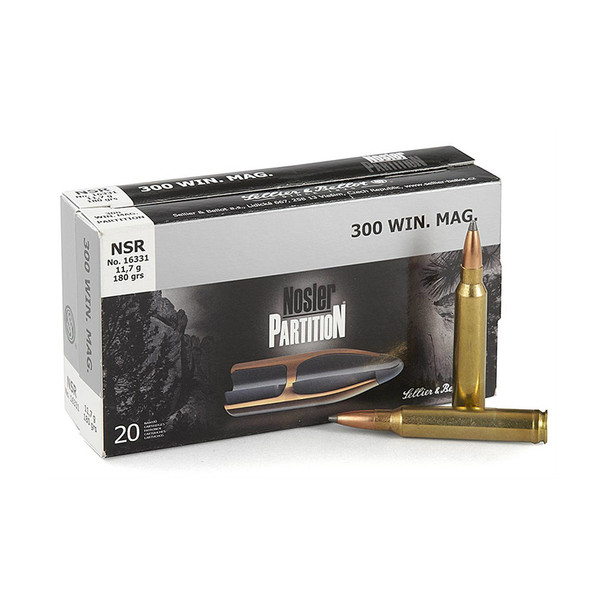 S&B 7.62mm 180gr Nosler Partition Ammunition 20rds