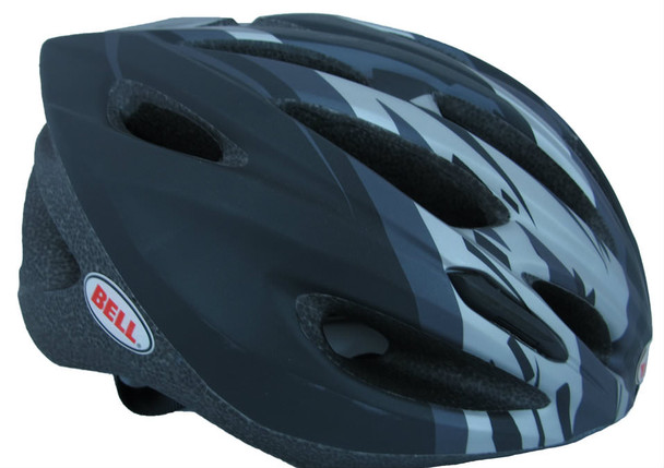 Bell Sports Solar X Helmet, Matte Black/Titanium Shatter, Universal