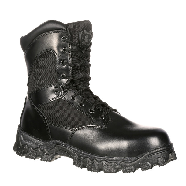 Rocky 2173 Alpha Force Duty Boots w/Side Zipper BLACK