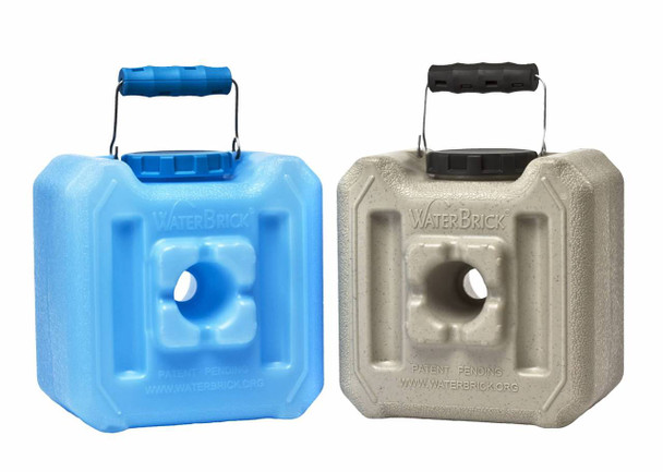 WaterBrick 1.6 Gallon Containers 10/Pack