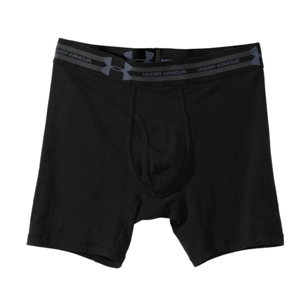 "Under Armour Men's Cotton Charged Tactical 6"" Boxer Jock , Black"