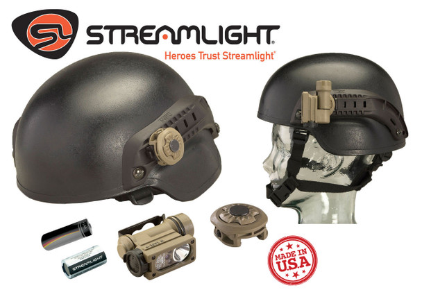 Streamlight Sidewinder Compact II Mil-Spec w/Helmet Rail Mount Adapter