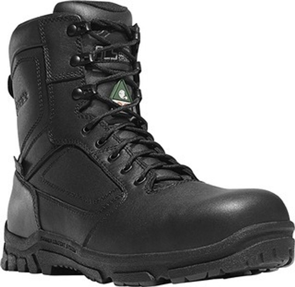 "Danner 23826 Men's Lookout EMS/CSA Side Zip 8"" Black Boots"