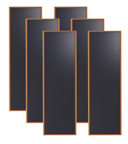 Brunton Solarflat 15w 12v 36x12x0.75 Amorphous 6 Solar Panels