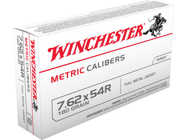 Winchester Metric 7.62x54mm 180gr FMJ Ammunition 20rd