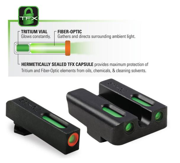 TruGlo TFX Pro Tritium & Fiber-Optic Sights