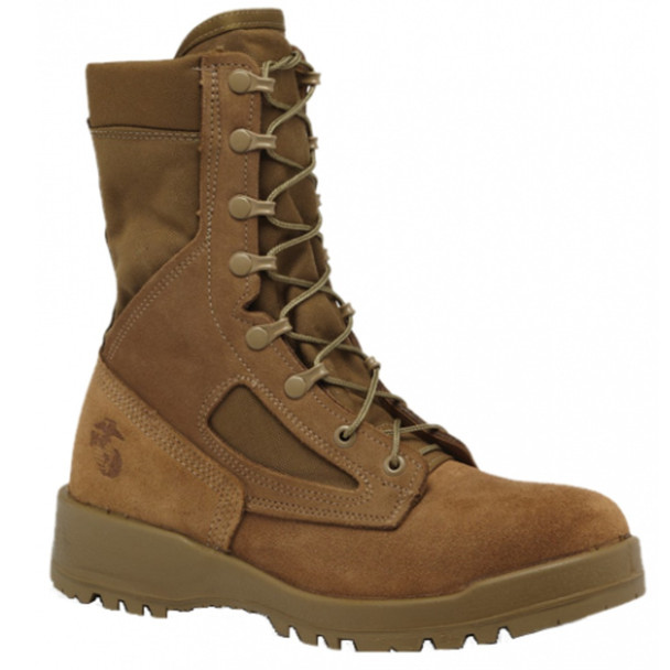 "Belleville 550 ST 8"" USMC Hot Weather Steel Toe Coyote Boots"