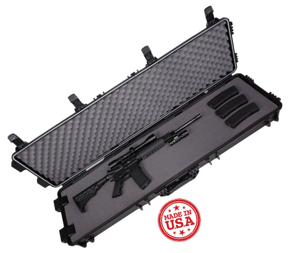 Royal Waterproof Long Gun Hard Case w/Foam & Rugged Off-Road Wheels