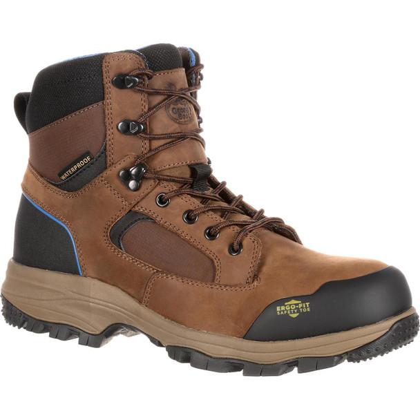 Georgia Boots GB00107 Blue Collar Waterproof Work Hiker Dark Brown Boots