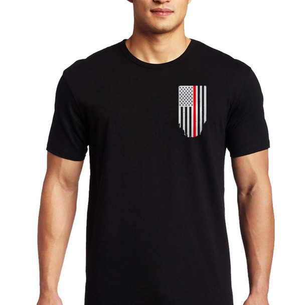Thin Red Line Men's Flag T-Shirt