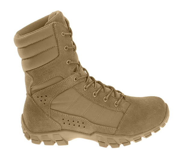 """Bates E08670 Coyote Brown 8"""" Lightweight Hot Weather Boots"""