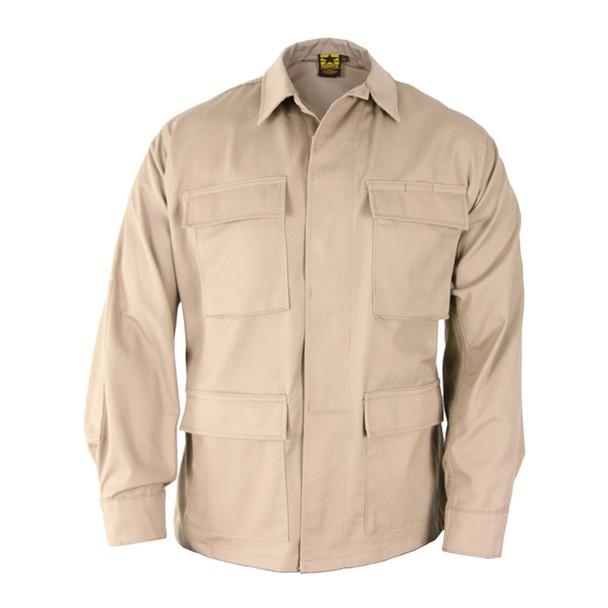Propper F545438250 Poly Cotton Ripstop BDU Coats, Khaki