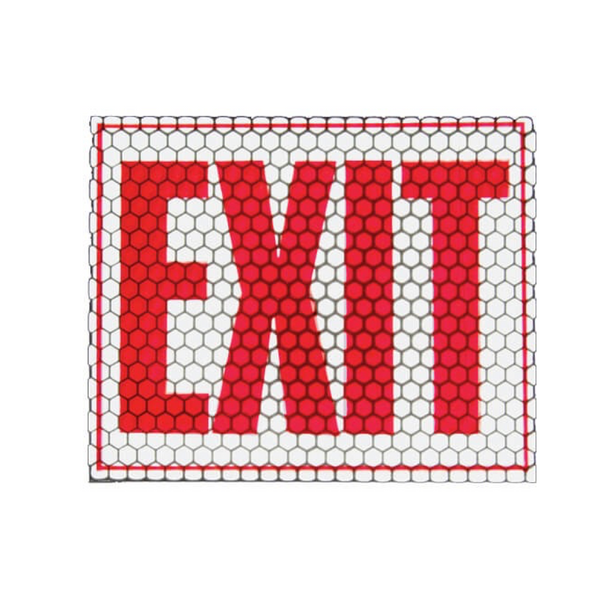 Cyalume Cyflect Exit Sign w/ Adhesive Backing – Glows and Reflects
