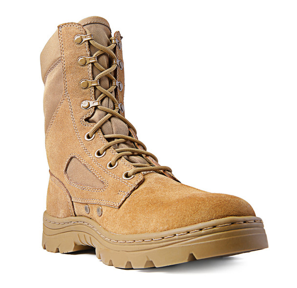 """Ridge Outdoors 3208 Dura-Max Leather Suede 8"""" Coyote Boots"""