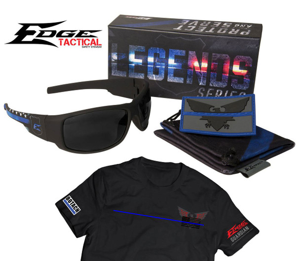 Edge Tactical Legends Guardian Thin Blue Line Ballistic Eye Pro w/Free T-Shirt