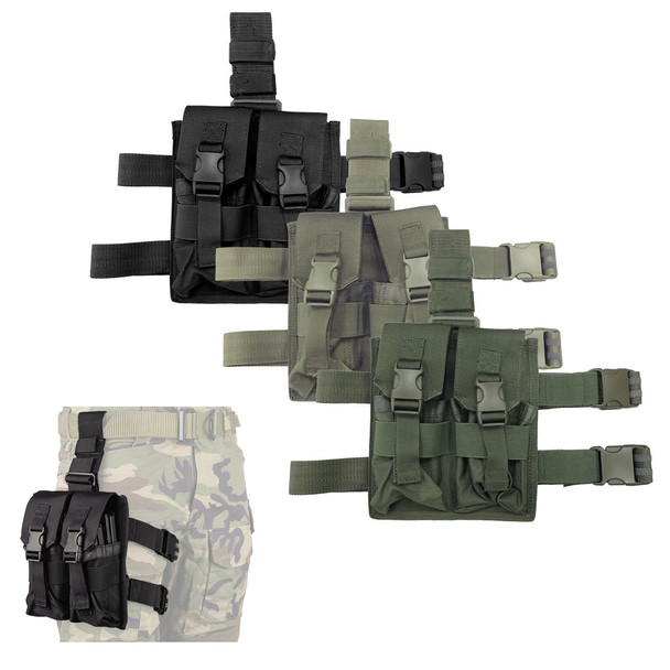 Battle Steel AR15/M4 Four Magazine Drop Leg Pouch