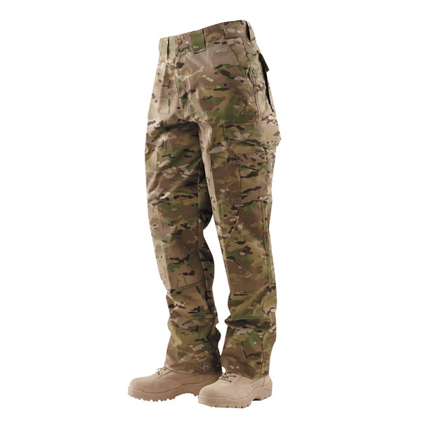 Tru-Spec 24-7 Series Mens Tactical 65/35 Polyester/Cotton RipStop Pants,Multicam