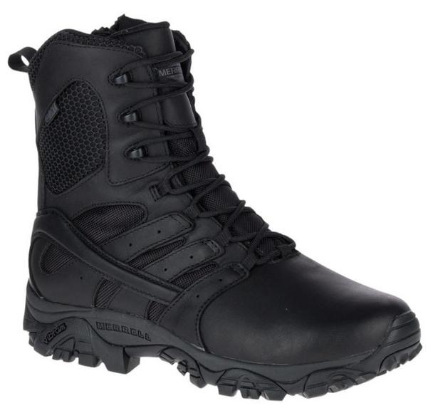 "Merrell MOAB 2 Tactical Response 8"" Black Waterproof Boots"