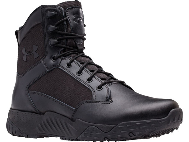 "Under Armour 1303129 Men's Stellar 8"" Side Zip Black Tactical Boots"