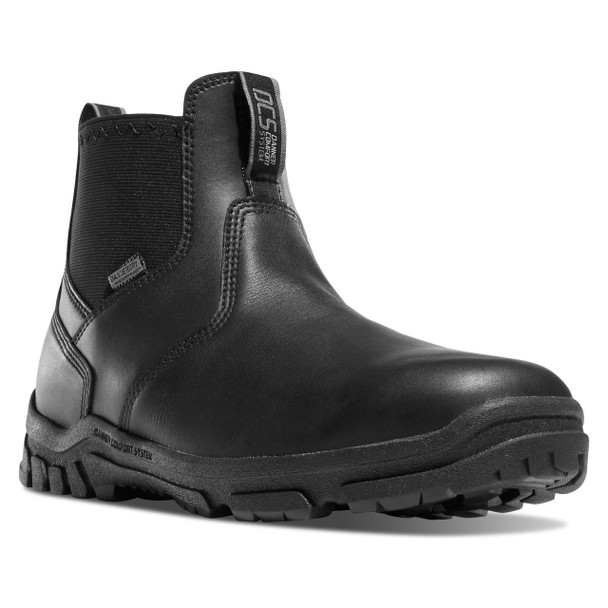 """Danner 23829 Men's Lookout Station Office 5.5"""" Black Non-Metallic Safety Toe Black Boots"""