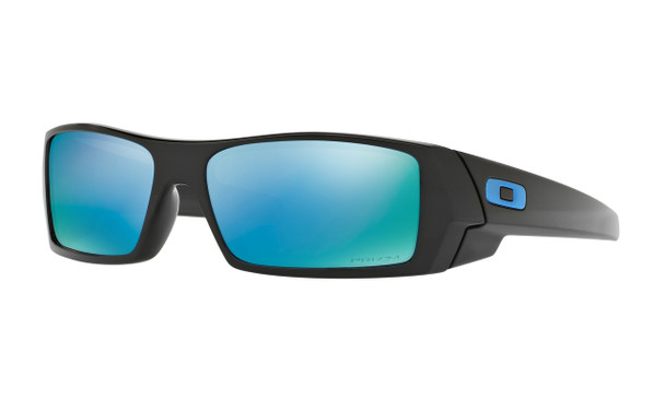 Oakley Men's Gascan Polished Black Frame Prizm Deep Water Polarized Lenses