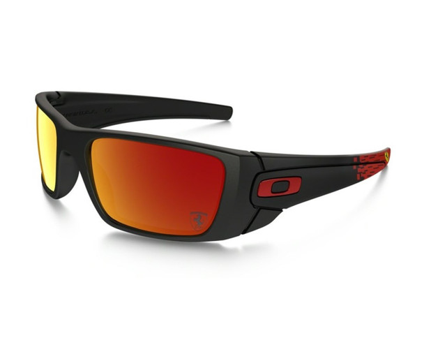 Oakley Men's Fuel Cell Matte Black Frame Ruby Iridium Lenses