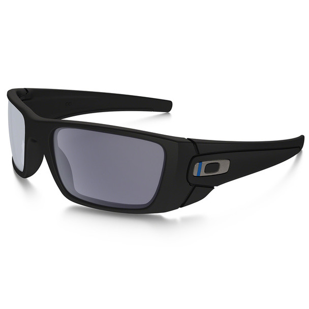 Oakley Men's SI Fuel Cell Thin Blue Line Blue Black Frame Grey Lenses