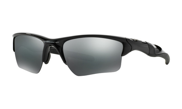 Oakley Men's Half Jacket 2.0 XL Polished Black Frame Black Iridium Lenses