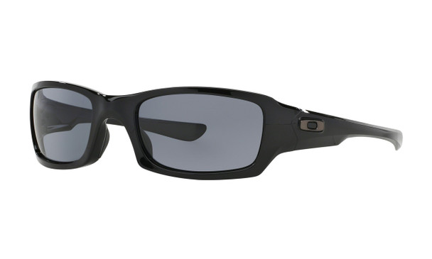 Oakley Men's Fives Squared Polished Black Frame Grey Lenses