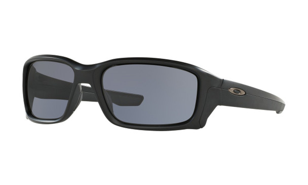Oakley Men's StraightLink Matte Black Frame Grey Lenses