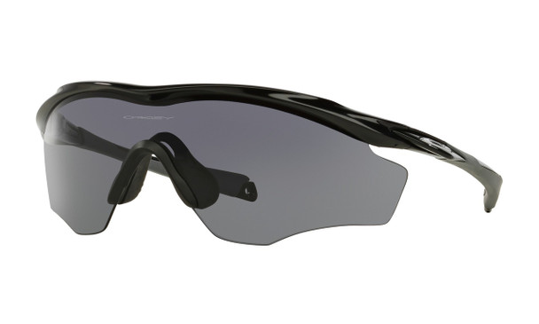 Oakley Men's M2 Polished Black Frame XL Grey Lenses