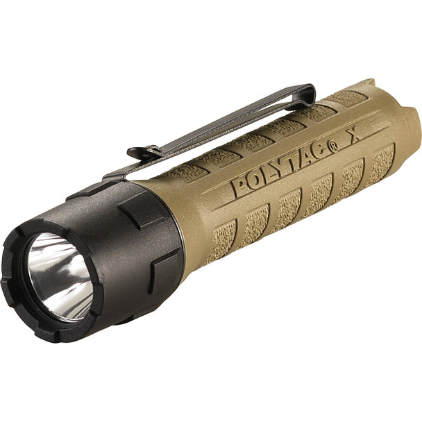 Streamlight PolyTac X Rechargeable Dual Fuel Programmable Flashlights Coyote