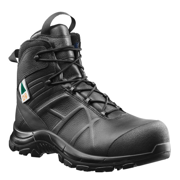 "Haix 620012 Black Eagle Safety 55 Mid Side Zip 5"" Black Boots"