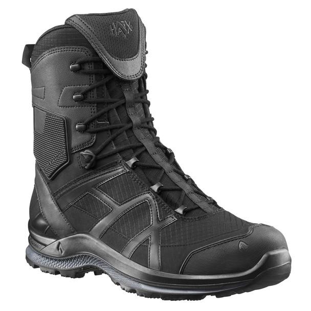 "Haix 330004 Black Eagle Athletic 2.0 T High Side Zip 8"" Black Boots"