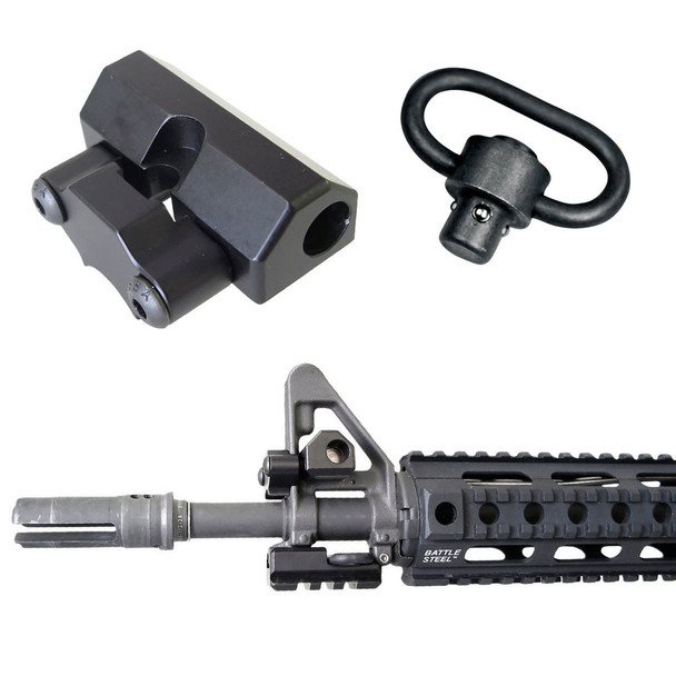 Battle Steel AR15/M4 Sight Tower QD Sling Mounts